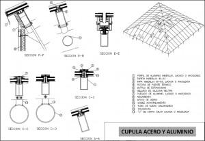 cupula acero y aluminio