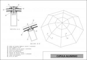 plano cupula aluminio