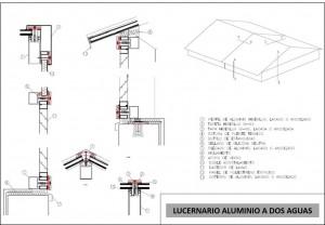 plano lucernario aluminio