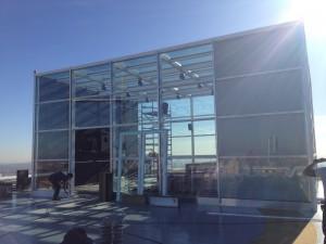 glass screening room in spain