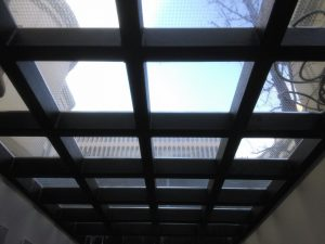 walk on glass skylight