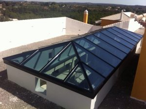 four sides glass skylight